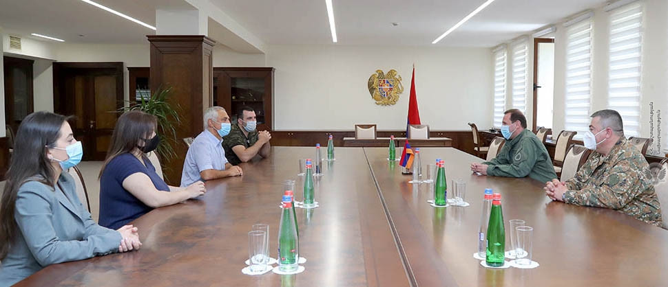 """MINISTER OF DEFENCE OF ARMENIA DAVID TONOYAN RECEIVED A DELEGATION OF THE """"TOVMASYAN"""" CHARITABLE FOUNDATION cover"""