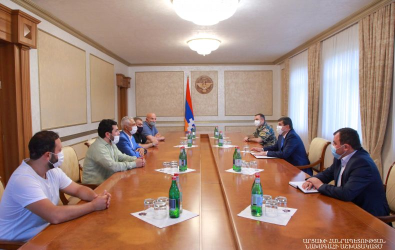 Meeting with the President of the Republic of Artsakh Arayik Harutyunyan cover