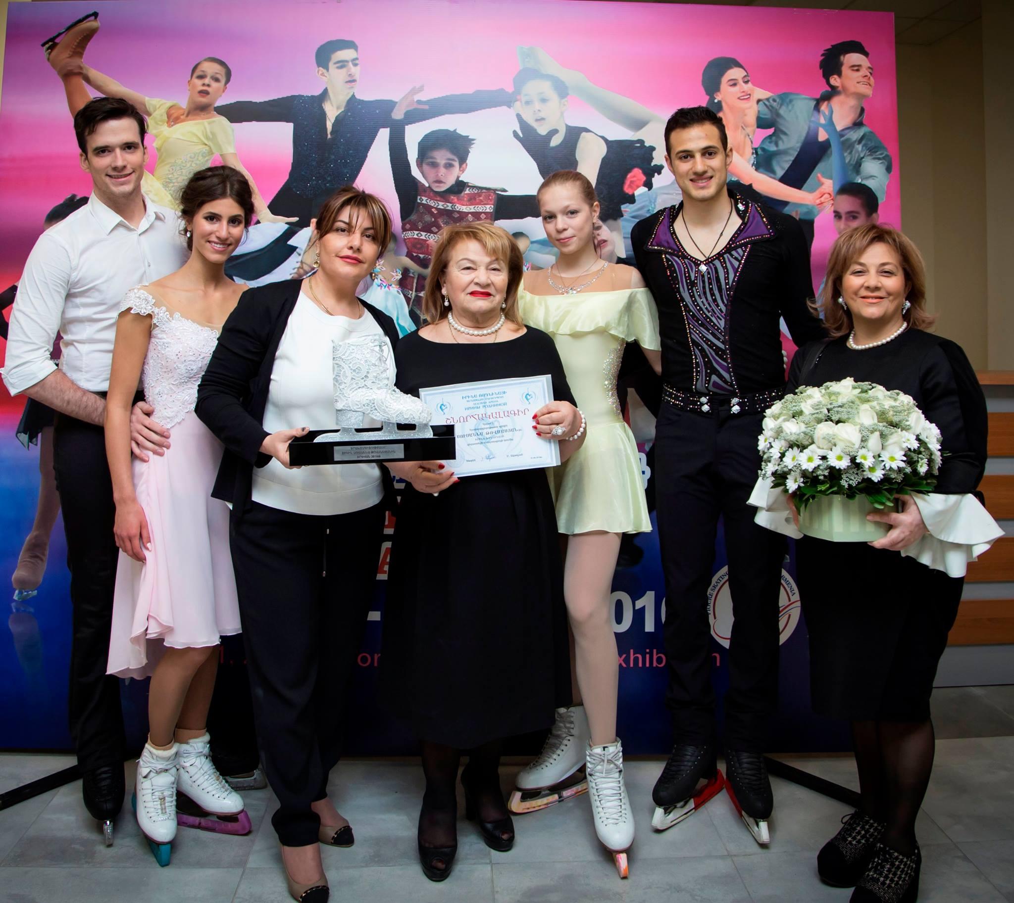 """Tovmasyan"" foundation donated 140 pairs of skates to Irina Rodnina's figure-skating school cover"